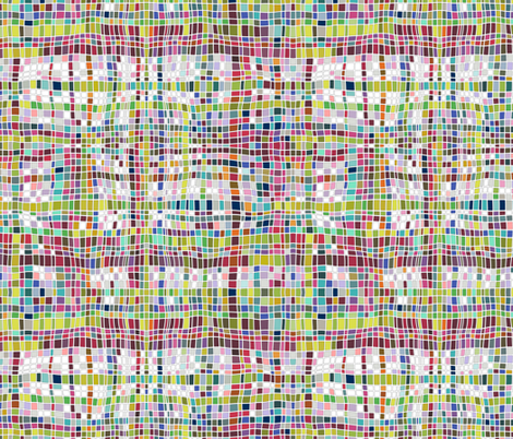 weave mosaic bright fabric by scrummy on Spoonflower - custom fabric