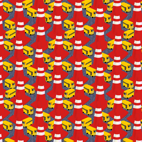 SCHOOL DAZE MAZE fabric by glimmericks on Spoonflower - custom fabric