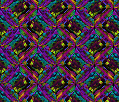 madras spin kaleidoscope fabric by glimmericks on Spoonflower - custom fabric