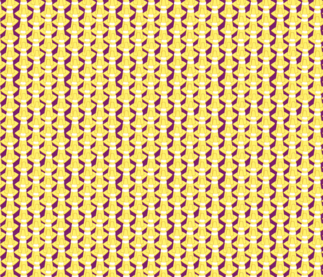 cones  yellow fabric by glimmericks on Spoonflower - custom fabric