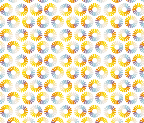 rainbow pinwheels fabric by brokkoletti on Spoonflower - custom fabric