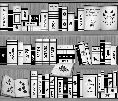 My Library fabric by jabiroo on Spoonflower - custom fabric
