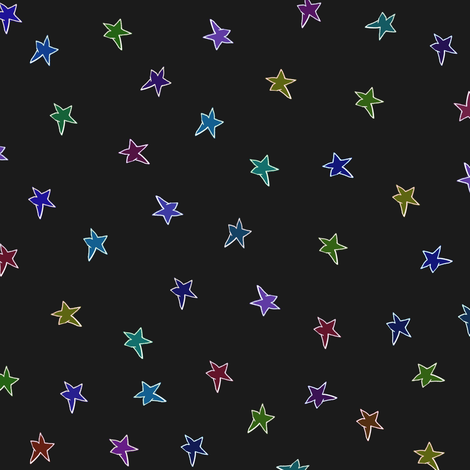 mac's stars dark fabric by weavingmajor on Spoonflower - custom fabric