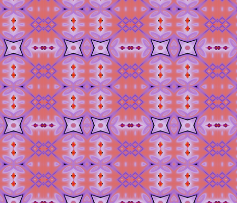 lin-purple-coral2 fabric by wren_leyland on Spoonflower - custom fabric