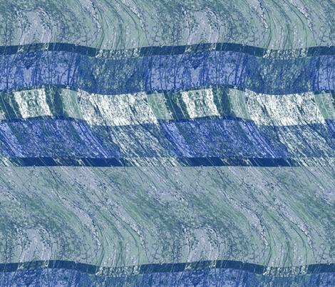 Blue cobalt cascade fabric by wren_leyland on Spoonflower - custom fabric