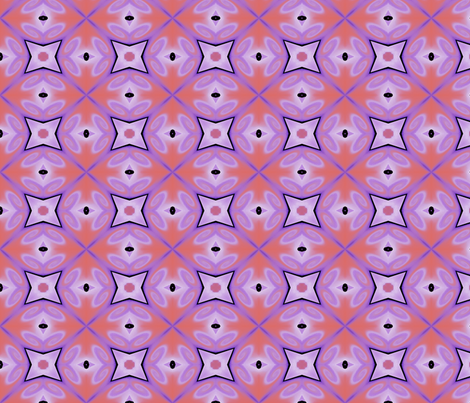 Purple-coral-floral fabric by wren_leyland on Spoonflower - custom fabric
