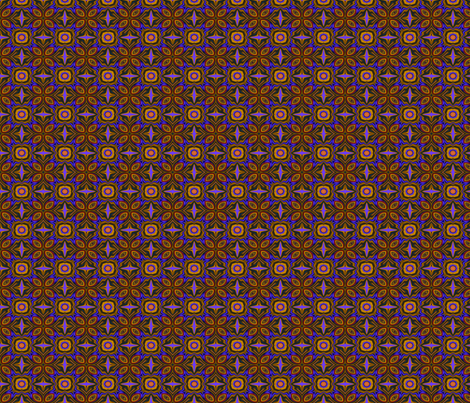 Royal blue and gold fabric by wren_leyland on Spoonflower - custom fabric