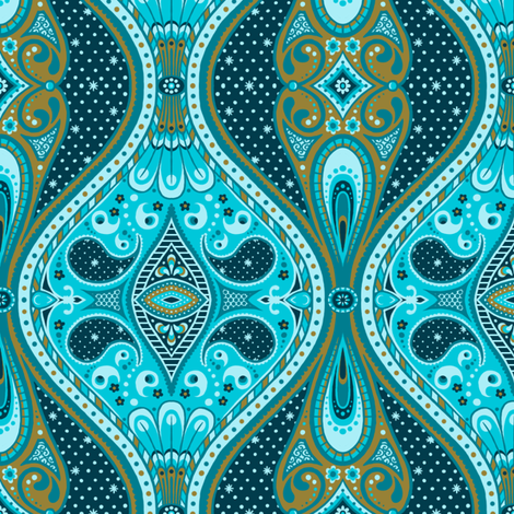 Ornamental Night fabric by siya on Spoonflower - custom fabric