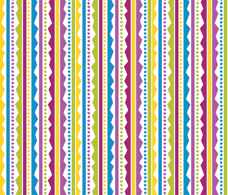 Easter Basset Egg Stripe fabric by robyriker on Spoonflower - custom fabric