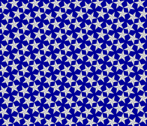 S43 CV1 3-D stars fabric by sef on Spoonflower - custom fabric
