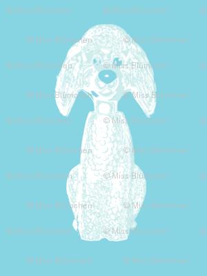 Oscar Dog turquoise small