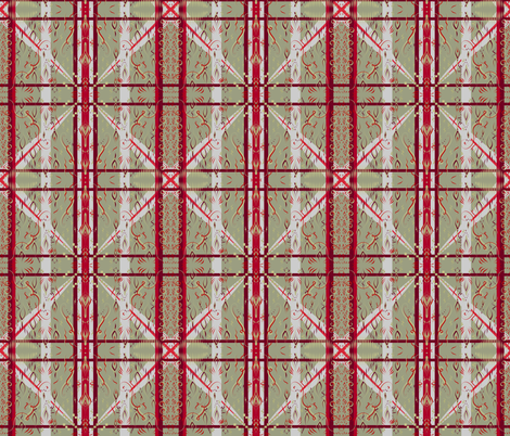 Gold and red plaid fabric by su_g on Spoonflower - custom fabric