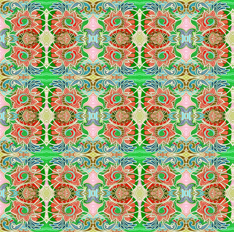 Happy Gardens fabric by edsel2084 on Spoonflower - custom fabric
