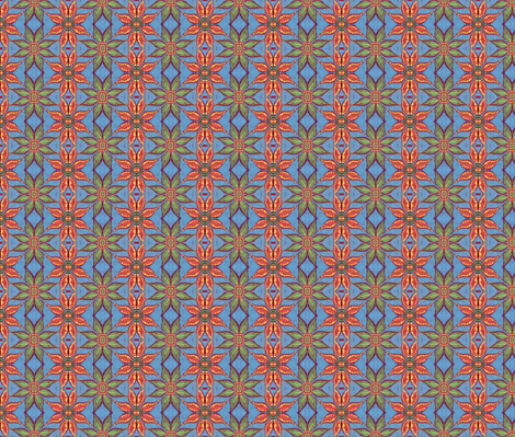 Little spiky flowers fabric by hooeybatiks on Spoonflower - custom fabric