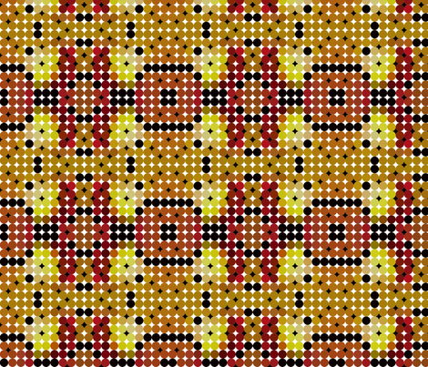 ball_circle_retro_tiles_with_black_ones fabric by vinkeli on Spoonflower - custom fabric