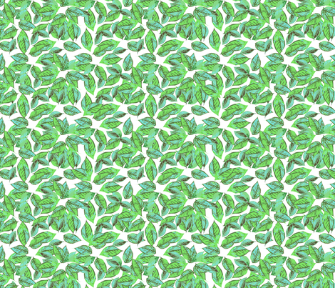 Foliage in Aqua fabric by joanmclemore on Spoonflower - custom fabric