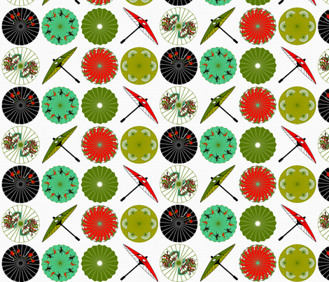 Tropical Parasols fabric by mag-o on Spoonflower - custom fabric