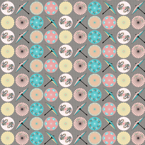 Spring Parasols fabric by mag-o on Spoonflower - custom fabric