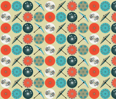 Beach Parasols fabric by mag-o on Spoonflower - custom fabric