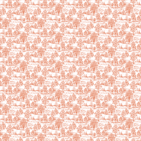 Mini Toile Red ©2012 by Jane Walker fabric by artbyjanewalker on Spoonflower - custom fabric