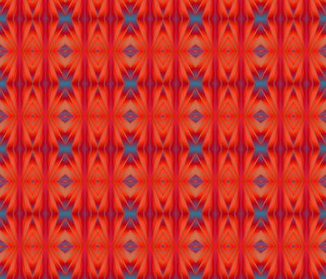 southwestern red fabric by krs_expressions on Spoonflower - custom fabric