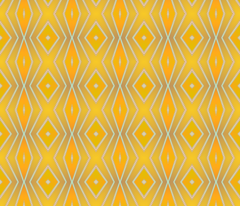 gold diamonds fabric by krs_expressions on Spoonflower - custom fabric