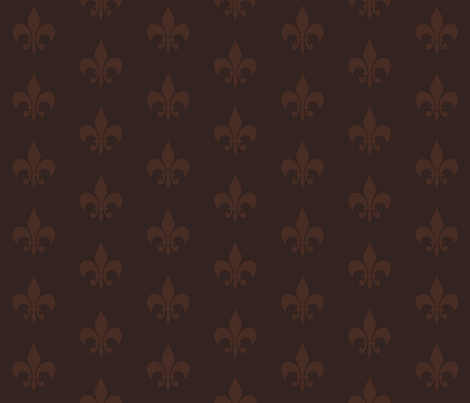 Woodland Fleur de Lis fabric by papersparrow on Spoonflower - custom fabric