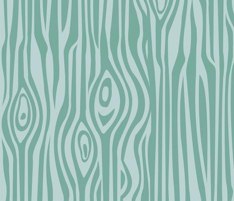 wood_blue_wallpaper fabric by thirdhalfstudios on Spoonflower - custom fabric