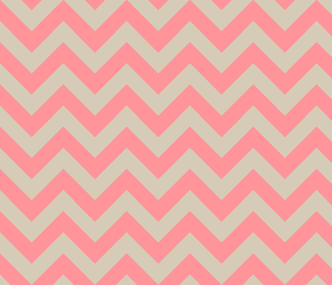 zigzag coral fabric by jenr8 on Spoonflower - custom fabric