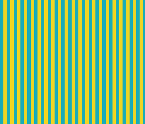 lemonade_bright_blue_yellow_stripe fabric by wendyg on Spoonflower - custom fabric