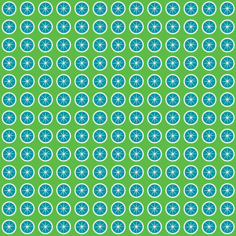 lemonade_bright_green_blue fabric by wendyg on Spoonflower - custom fabric