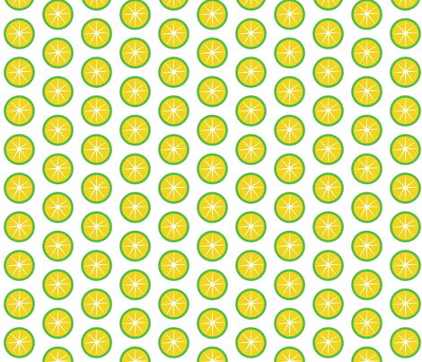 Retro Lemons fabric by wendyg on Spoonflower - custom fabric