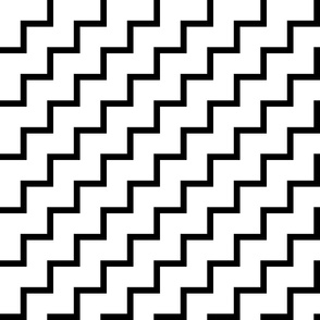 Bias Zig Zag - Black on White