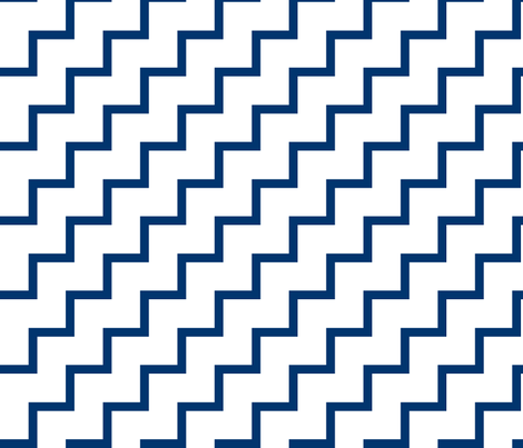 Bias Zig Zag - Navy on White fabric by laurendahl on Spoonflower - custom fabric
