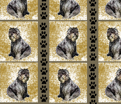 Bouvier Des Flandres fabric by dogdaze_ on Spoonflower - custom fabric