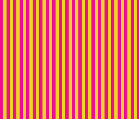 lemonade_bright_pink_yellow_stripe fabric by wendyg on Spoonflower - custom fabric
