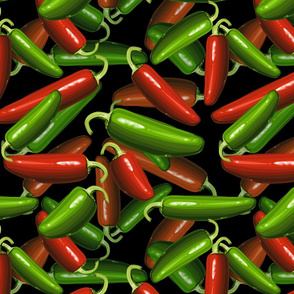 Chili Peppers Fabric