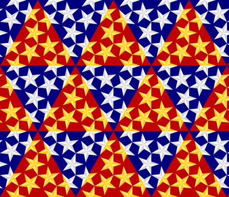 U53 V1 bevelled stars on triangles fabric by sef on Spoonflower - custom fabric