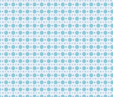 dotty hearts (blue) fabric by mondaland on Spoonflower - custom fabric