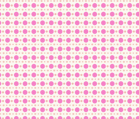 dotty hearts (pink) fabric by mondaland on Spoonflower - custom fabric