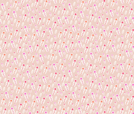 feather (peach) fabric by mondaland on Spoonflower - custom fabric