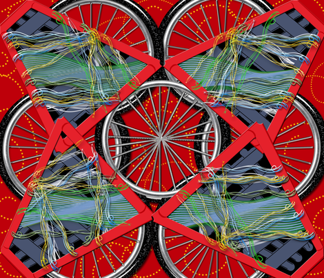 Yarn Bike fabric by dancingwithfabric on Spoonflower - custom fabric