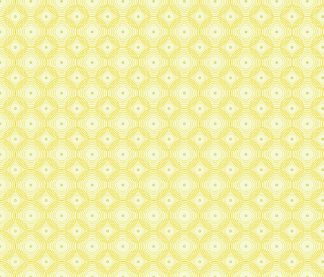 Yellow spirals fabric by brainsarepretty on Spoonflower - custom fabric