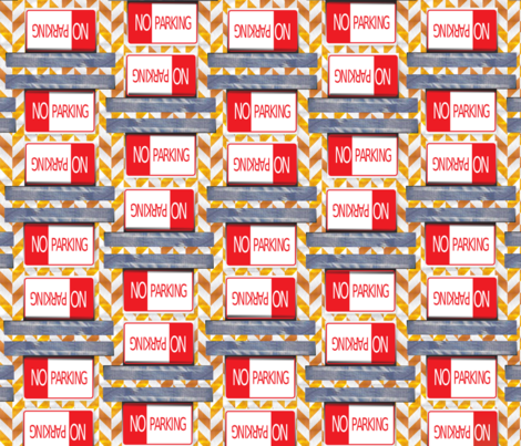 No_Parking fabric by betsypreston on Spoonflower - custom fabric