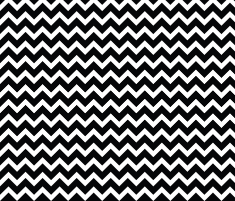 Black and White Chevron fabric by sweetzoeshop on Spoonflower - custom fabric