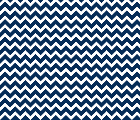 Navy Chevron fabric by sweetzoeshop on Spoonflower - custom fabric