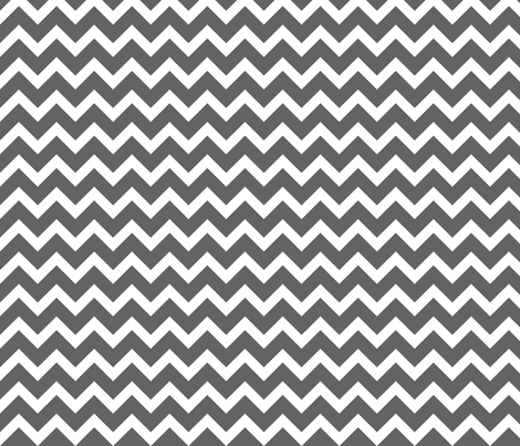 Charcoal Gray Chevron fabric by sweetzoeshop on Spoonflower - custom fabric