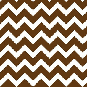 Chocolate Brown Chevron