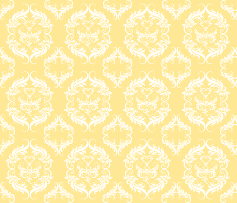 Mellow Yellow Damask fabric by cksstudio80 on Spoonflower - custom fabric