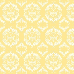 Mellow Yellow Damask